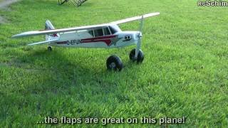 getlinkyoutube.com-Multiplex Funcub Maiden - a really great trainer with huge landing gear - lands everywhere!