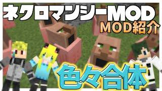 getlinkyoutube.com-【MOD紹介】3人で作る変なモブ!ネクロマンシーMOD【Minecraft】withルフ,ねが