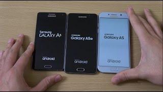 getlinkyoutube.com-Samsung Galaxy A5 2017 vs A5 2016 vs A5 2015 - Speed Test!