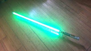 getlinkyoutube.com-Luke Skywalker ROTJ Hero Crystal Focus 7.5 Custom Star Wars FX Lightsaber