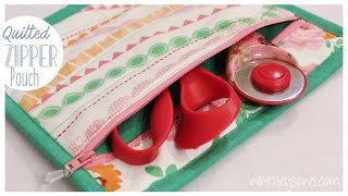getlinkyoutube.com-Quilted Zipper Pouch | How to | Whitney Sews DIY
