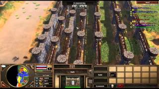 getlinkyoutube.com-Age Of Empires 3 Dutch Rush Strategy Game play. Orinoco Map 3 vs 3