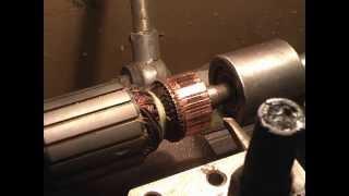 getlinkyoutube.com-проточка коллектора, ремонт электороинструмента.