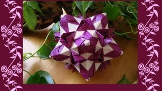 getlinkyoutube.com-Origami ᘠ♥ᘡ Shalimar ᘠ♥ᘡ Kusudama