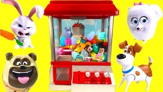 Secret Life of Pets Play CLAW MACHINE Game with Toys