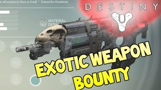 "Destiny - Exotic Bounty Mission - How To Get ""BAD JUJU"" Exotic Weapon Reward"