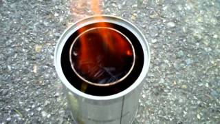 getlinkyoutube.com-Prototype Woodgas Gasification Camp Stove