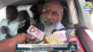 Final decision is after the Opinion polls : C. V. Vigneswaran