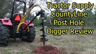 getlinkyoutube.com-CountyLine Post Hole Digger - Review and first use