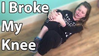 I BROKE My Knee! (Update)