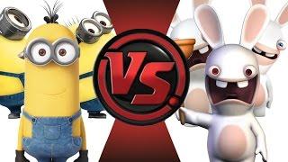 getlinkyoutube.com-MINIONS vs RABBIDS! Cartoon Fight Club Episode 20!