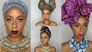 getlinkyoutube.com-4 Different ways to tie a headwrap/ turban || Jessica Pettway