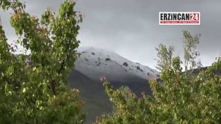 Mayıs Ayında Erzincan'a Kar Sürprizi