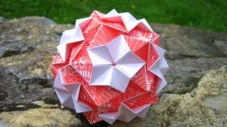 getlinkyoutube.com-Origami ✿⊱╮ Regenbogen ✿⊱╮ Kusudama
