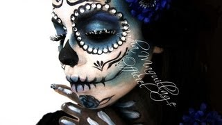 getlinkyoutube.com-Niia Hall Maquillage #SANTA MUERTE