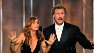 getlinkyoutube.com-Will Ferrell & Kristen Wiig hilarious presenting speech @ 70th Annual Golden Globe Awards 2013