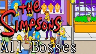 getlinkyoutube.com-The Simpsons Arcade Game: All Bosses