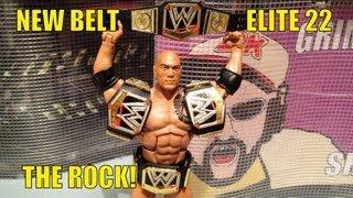 WWE ACTION INSIDER: The Rock Elite series 22 Wrestling figure w/ NEW championship belt MATTEL elites