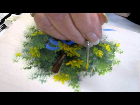 Floral techniques: free lesson of Decorative Painting by Ros Stallcup - Demo 1/2