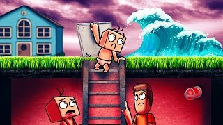 Minecraft | Who's Your Daddy? How to Survive a Tsunami! (Baby vs Tsunami)