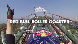 getlinkyoutube.com-Trials Motorcycle on a Roller Coaster - Red Bull Roller Coaster