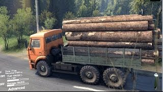 getlinkyoutube.com-SPINTIRES 2014 Full Version Preview - Kamaz Loaded With Logs