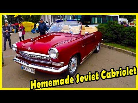 Unusual Homemade Soviet Cabriolet. History of Military Cabriolet GAZ 21. Custom Soviet Cars