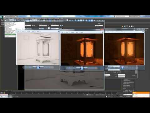 3ds Max Tutorial Pt. 14 Final - Interior Lantern Scene