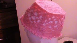 getlinkyoutube.com-Gorro Primavera a #crochet  1a. de 3 partes.