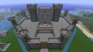 getlinkyoutube.com-Πως να φτιάξετε ένα κάστρο στο minecraft Επισόδιο 1
