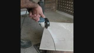 getlinkyoutube.com-Cutting a Freehand Curve in a Glazed Tile