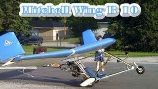 getlinkyoutube.com-Ultralight Aircraft Kit - Mitchell Wing B 10, jet powered ultralight aircraft.