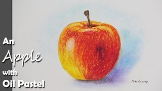 getlinkyoutube.com-How to Paint An Apple with Oil Pastel color | step by step