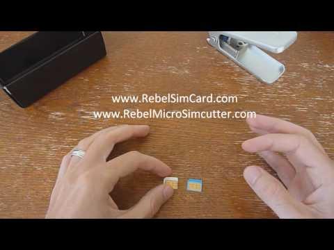 How To Cut a Normal Mini Sim To Apple iphone 4 ipad Micro sim format