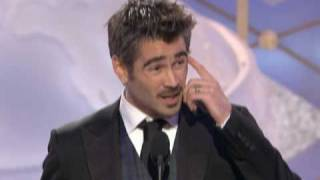 getlinkyoutube.com-Total Recall's Colin Farrell Wins Best Actor Motion Picture Musical or Comedy - Golden Globes 2009