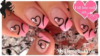 Easy Valentine's Day Nail Art | Diseño de Uñas San Valentín ♥ Дизайн Ногтей Ко Дню Влюбленных