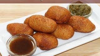 getlinkyoutube.com-Bread Potato Rolls Recipe by Manjula, Indian Vegetarian Appetizers
