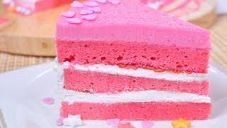 getlinkyoutube.com-เค้กนมชมพู - เค้กนมเย็น Pink Cake