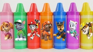 getlinkyoutube.com-Best Kid Learning Video w Giant Crayons Mickey mouse Minnie Paw Patrol Playset Toys Learn Colors