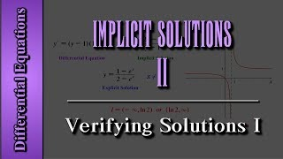 getlinkyoutube.com-Differential Equations: Implicit Solutions (Level 2 of 3) | Verifying Solutions I