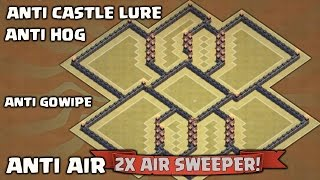 getlinkyoutube.com-Clash Of Clan - The Wave - TH9 War/Trophy Base - 2 Air Sweeper