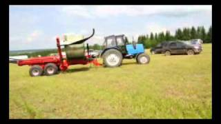 Подборщик-транспортировщик рулонов серии TRB