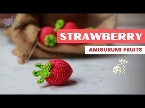 How to crochet a strawberry amigurumi