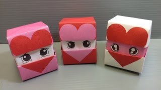 getlinkyoutube.com-Origami Changing Faces Heart Cube - Print at Home