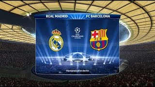 getlinkyoutube.com-PES 15 - UEFA Champions League Final ( Real Madrid vs Barcelona Gameplay )