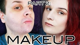 getlinkyoutube.com-Hide Facial Hair (using Makeup!) Part 2: Makeup