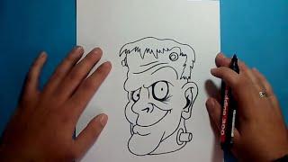 getlinkyoutube.com-Como dibujar a Frankenstein paso a paso 5 | How to draw Frankenstein 5