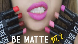 getlinkyoutube.com-[SWATCH + REVIEW] CITY COLOR BE MATTE LIPSTICK (PT.2) (WITH CC ENGSUB)