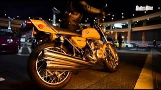 Kawasaki 750ss vs S30 Z 湾岸バトル