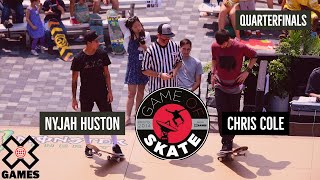 getlinkyoutube.com-Nyjah Huston vs. Chris Cole Game of Skate Quarterfinals - World of X Games